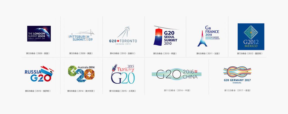 2017年德国汉堡g20峰会logo形象视觉设计